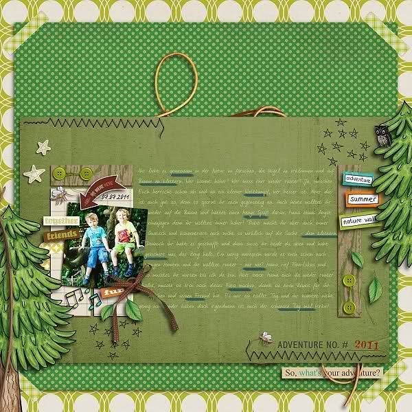 """Digital Scrapbook page created by domad featuring """"Summer Camp"""" by Sahlin Studio"""