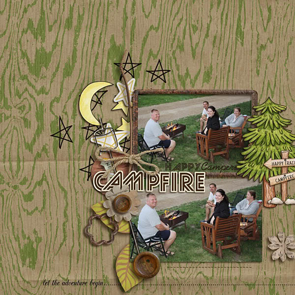"""Digital Scrapbook page created by kristasahlin featuring """"Summer Camp"""" by Sahlin Studio"""