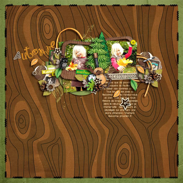 """Digital Scrapbook page created by arumrose featuring """"Summer Camp"""" by Sahlin Studio"""
