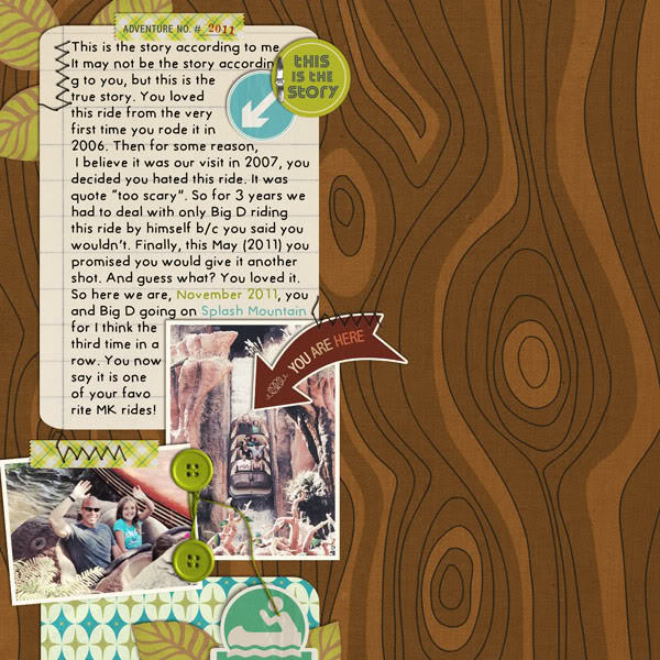 """Digital Scrapbook page created by cnscrap featuring """"Summer Camp"""" by Sahlin Studio"""