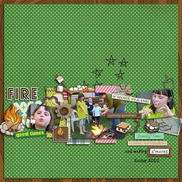 """Digital Scrapbook page created by kimbytx featuring """"Summer Camp"""" by Sahlin Studio"""