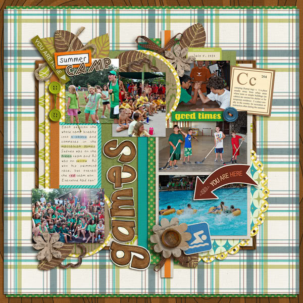 """Digital Scrapbook page created by norton94 featuring """"Summer Camp"""" by Sahlin Studio"""