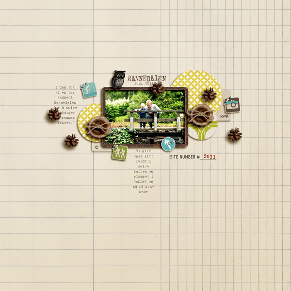 """Digital Scrapbook page created by liahra featuring """"Summer Camp"""" by Sahlin Studio"""