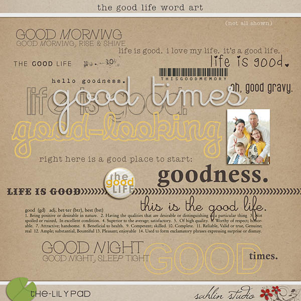The Good Life Word Art by Sahlin Studio