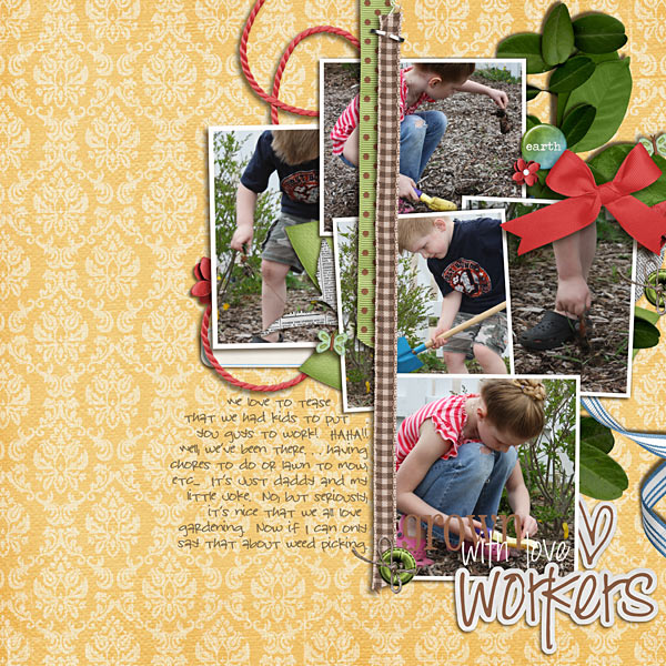Digital Scrapbook page created by kristasahlin featuring products by Sahlin Studio