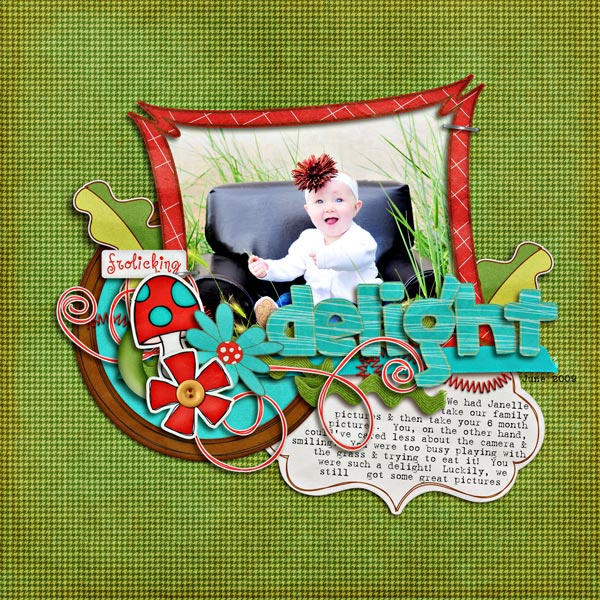 Digital Scrapbook page created by britaneejean featuring products by Sahlin Studio