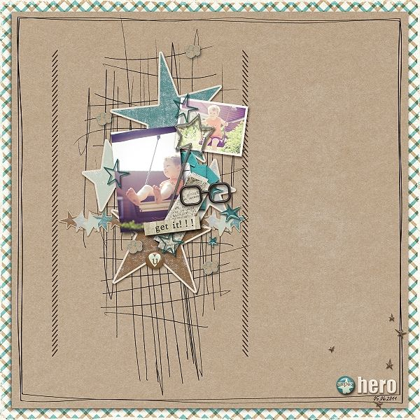 Digital Scrapbook page created by domad featuring products by Sahlin Studio