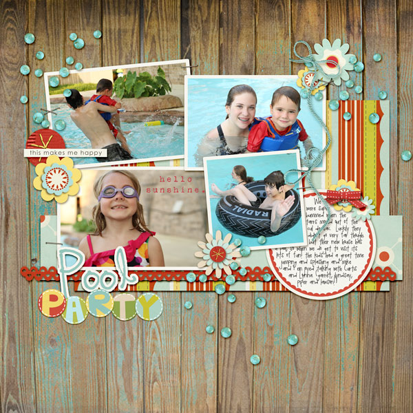 Digital Scrapbook page created by Beckie featuring products by Sahlin Studio