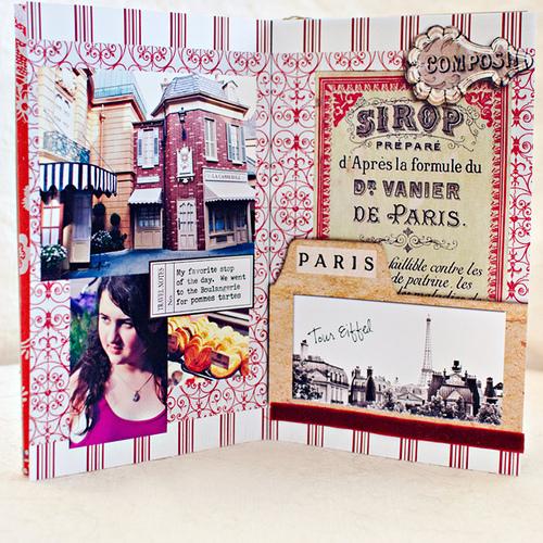 Disney Epcot Mini Album - Travel Journal Marie Lottermoser Paris France