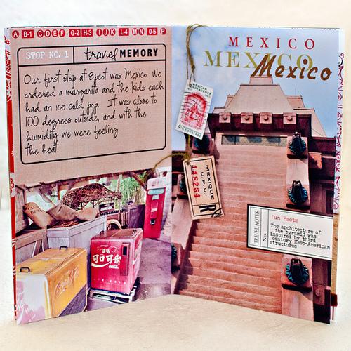 Disney Epcot Mini Album - Travel Journal Marie Lottermoser Mexico
