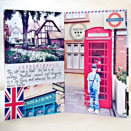 Disney Epcot Mini Album - Travel Journal Marie Lottermoser United Kingdom
