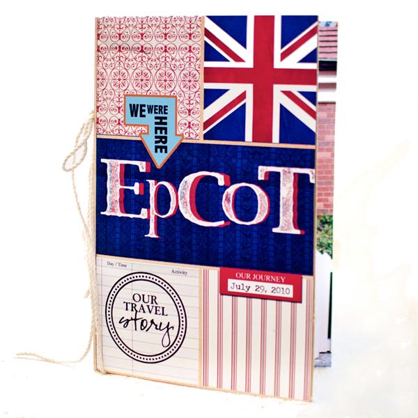 Disney Epcot Mini Album - Travel Journal Marie Lottermoser