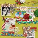 layout by mommy2boyz featuring Kitschy Christmas Journalers by Sahlin Studio