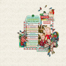 layout featuring the Kitschy Christmas Collection by Sahlin Studio and Jennifer Barrette