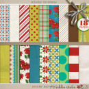 Kitschy Christmas Paper Detail by Jennifer Barrette and Sahlin Studio