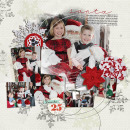 santa layout by kristasahlin featuring Brown Paper Packages (Papers), Very Merry (Elements) and December Daily Numbers by Sahlin Studio