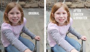 before after comparision lighten brighten photos