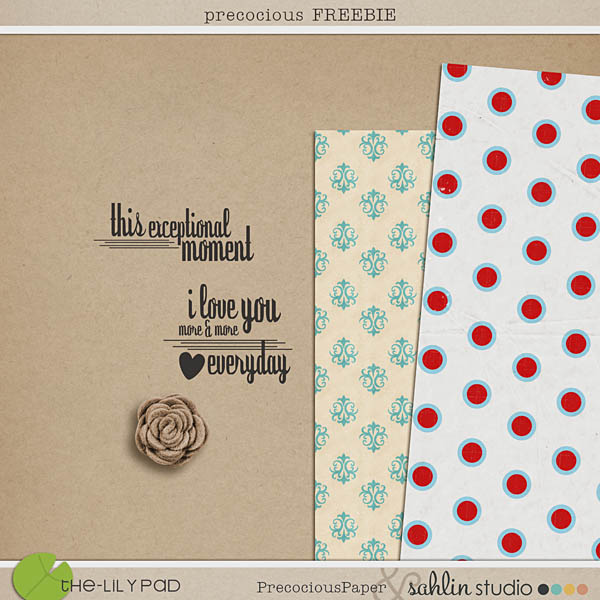 precocious FREEBIE by precocious papers and sahlin studio