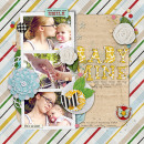 layout by mommatrish featuring Precocious by Sahlin Studio and Precocious Paper
