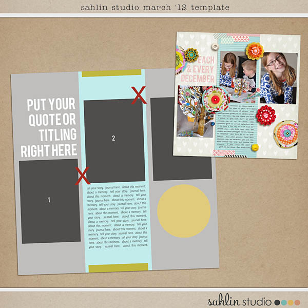 March 2012 Template Freebie by Sahlin Studio