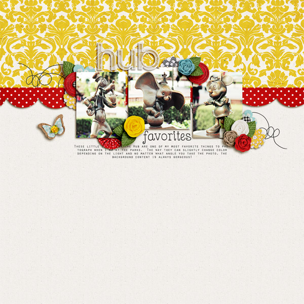 digital scrapbooking inspiration layout
