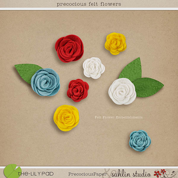 Precocious Felt Flowers by Sahlin Studio and Precocious Paper