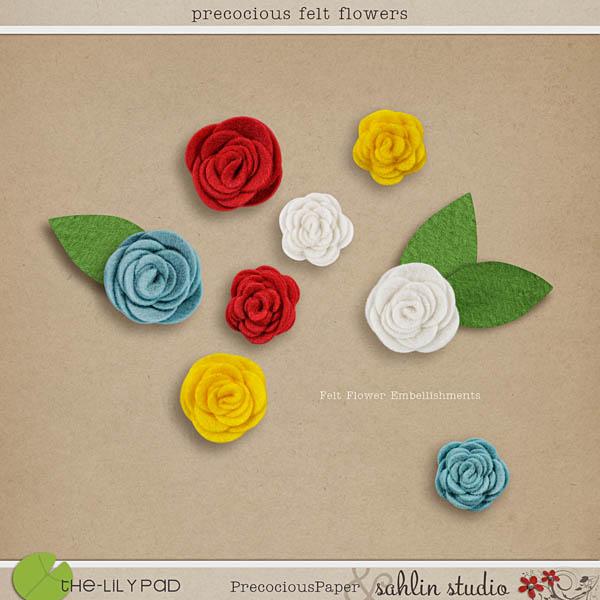 precocious felt flowers by sahlin studio
