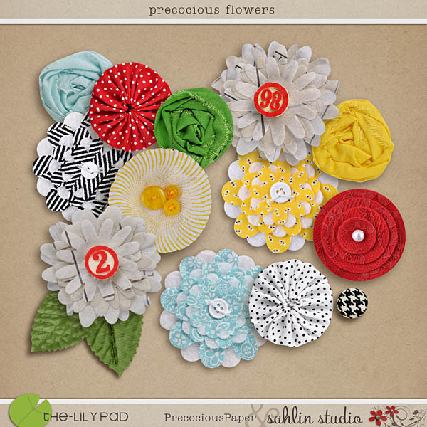 Precocious Flowers by Sahlin Studio and Precocious Paper