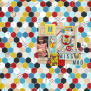 layout by BrynnMarie featuring Vintage Playing Cards and Anagram Letter Tile Alpha by Sahlin Studio