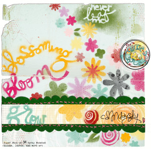 Graffiti Spray: Bloomin' by CD Muckosky