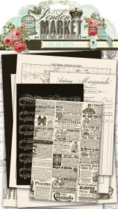 London Market Collage Sheets by Pink Paislee