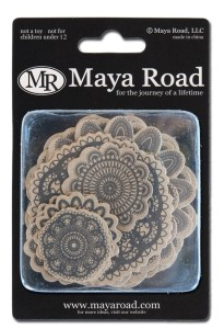 Maya Road kraft printed doilies