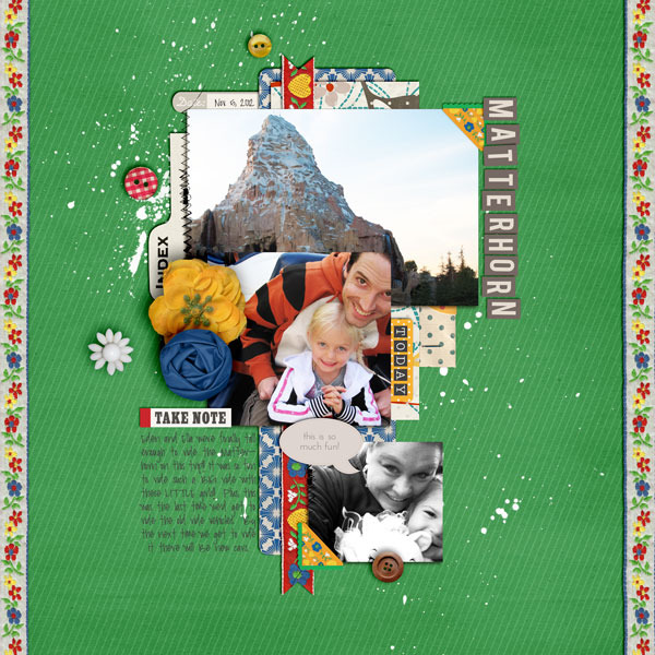 britt inspirational scrapbook layout