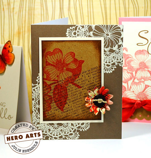 Dogwood Collage card by Julie Ebersole