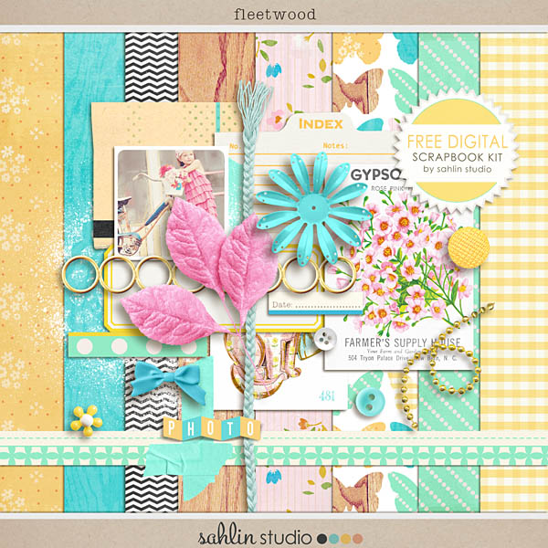 Free Digtial Scrapbook Kit Fleetwood Sahlin Studio Digital