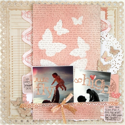 layout by Stephanie Howell featuring Mr. Huey's color mists