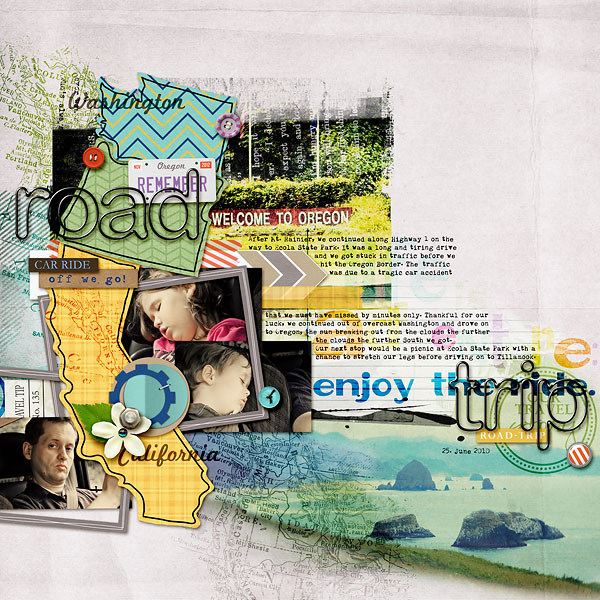 digital scrapbook inspiration