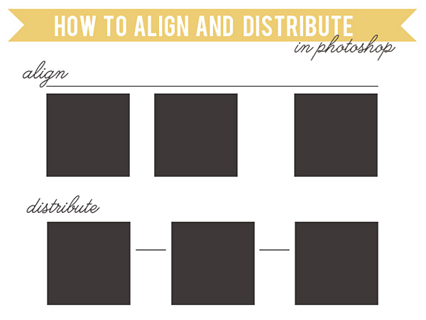 how to align and distribute in photoshop tutorial