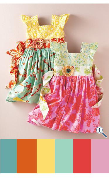 Dresses color inspiration palette