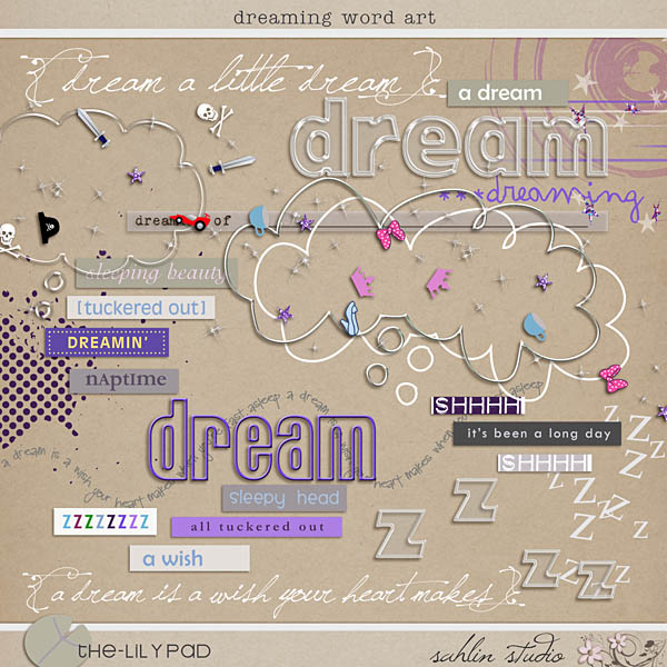 Dreaming Word Art by Sahlin Studio