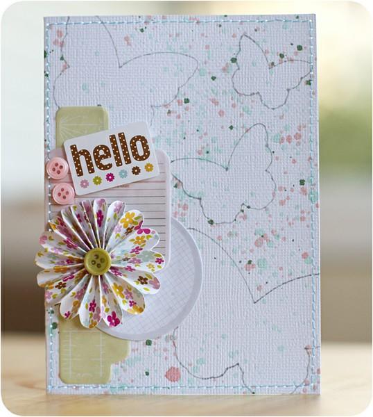 Hello card by Justlulu