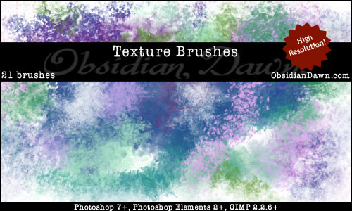 Obsidian Dawn Texture Brushes