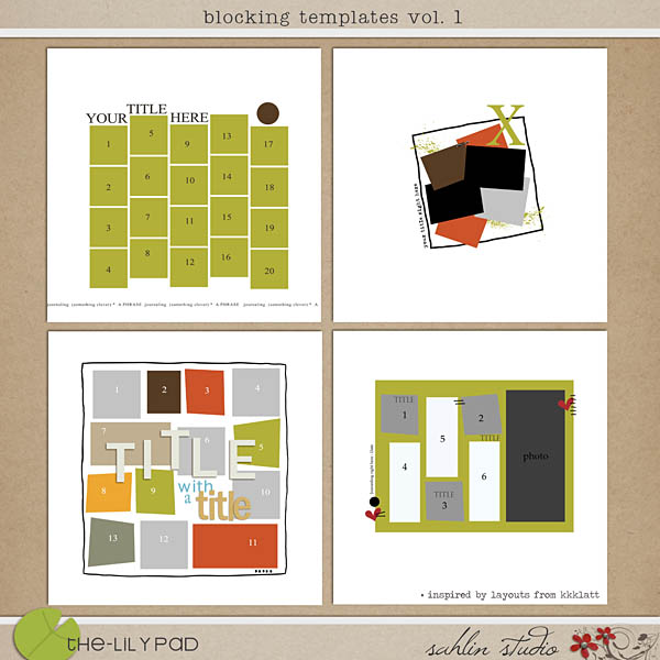 Blocking Templates by Sahlin Studio