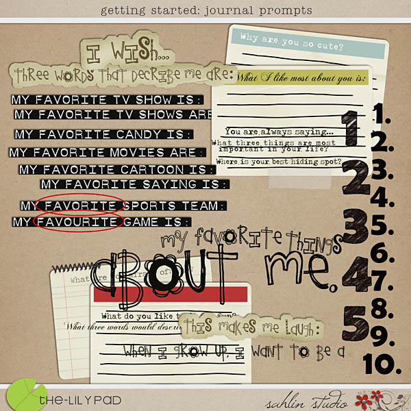 Getting Started Journal Prompts by Sahlin Studio