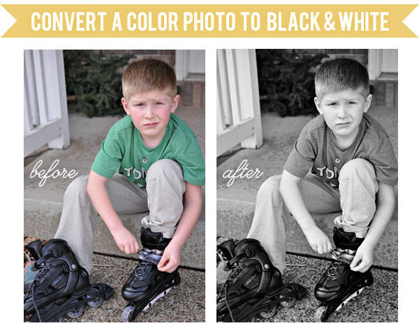 covert color photo to black white