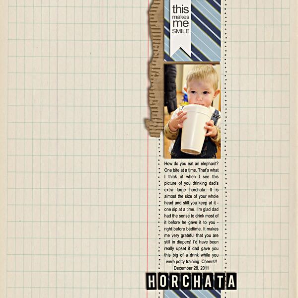 plumdumpling - inspirational scrapbook layout