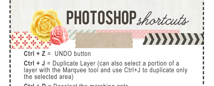 photoshop shortcuts control keys