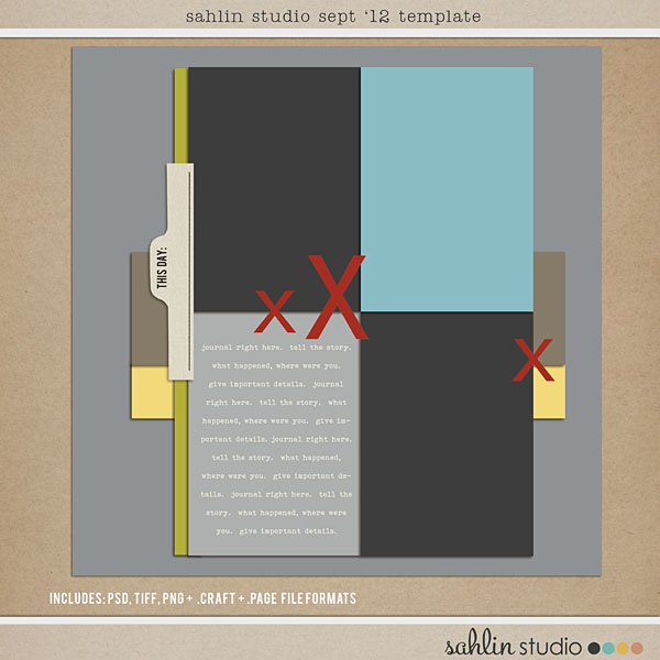 Sept 2012 Digital Scrapbook Template FREE