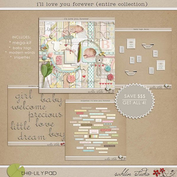 """I'll Love You Forever"" bundle by sahlin studio"