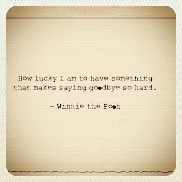 on being lucky